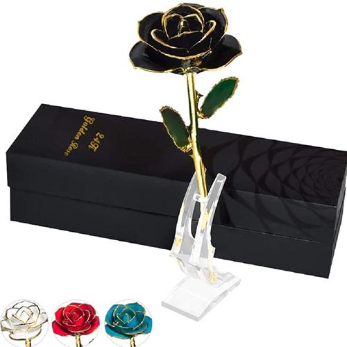 Golden Rose Last Forever For Wife
